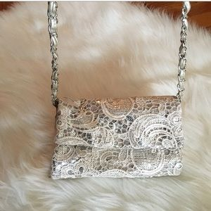 Icing Sequins and Lace Wallet Crossbody Bag